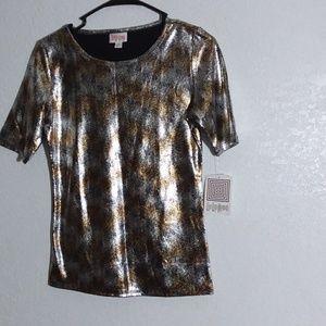 XS Silver Gold sprayed on black Gigi shirt